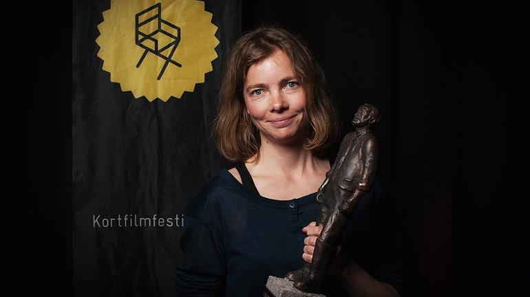 Camilla Figenschou vant Terje Vigen-prisen på Kortfilmfestivalen i 2012.