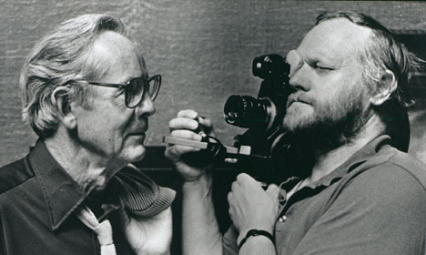 Rollo May og Jan Troell under innspillingen av «Sagolandet».