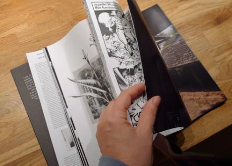 En sniktitt på boka som utgis til Photophobia-utstillingen. Foto: Oda Bhar.