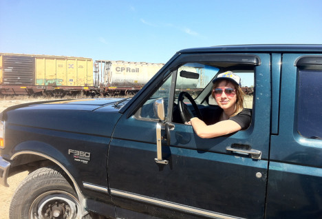 Julie-i-bilen