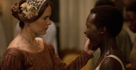 "Sarah Paulson as ""Mistress Epps"" and Lupita Nyongo as ""Patsey."""