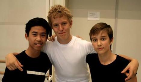 Ballettguttene trio