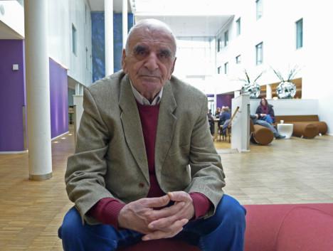 Den legendariske armenske regissøren Artavazd Pelesjan i Trondheim. Foto: Oda Bhar.