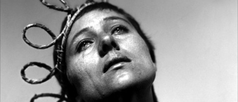 Renée Falconetti som Jeanne D'Arc.