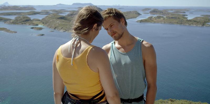Kjæresteparet på klatretur i «Fallet».