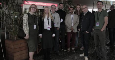 Fra høyre: Martin Thorshaug, Rune Sæterstøl, Tanja Schmollner, Armin Houman, Georg Tschurtschenthaler, Arngrim Ytterhus, Catharina Bøhler og Elin Festøy
