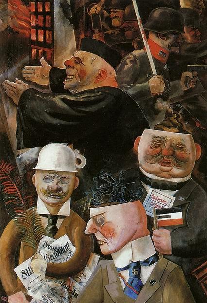 «Samfunnets støtter» (1926) av George Grosz.