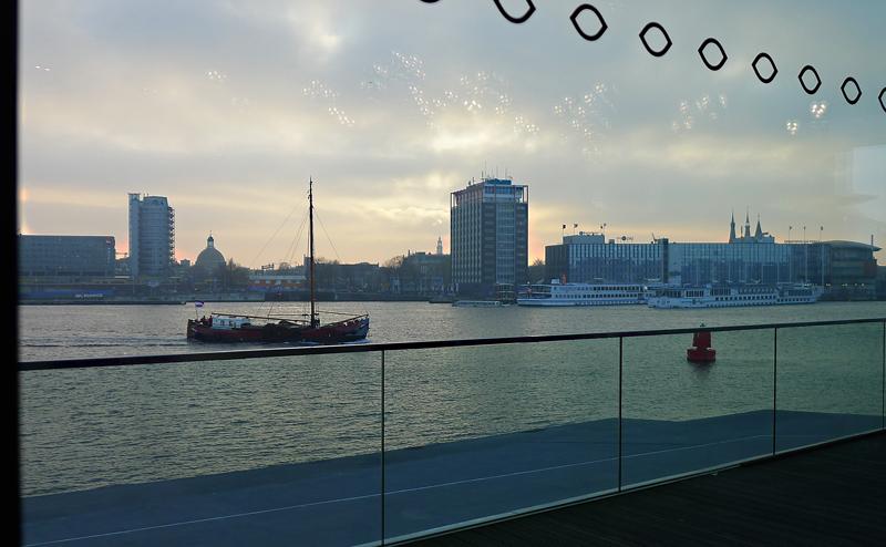 Utsikt fra EYE i Amsterdam. Foto: Oda Bhar.