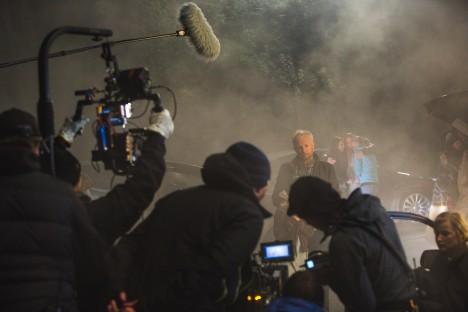 Fra en av filmens Geiranger-scener, skutt i et minimalt tidsvindu. Foto: Eirik Evjen