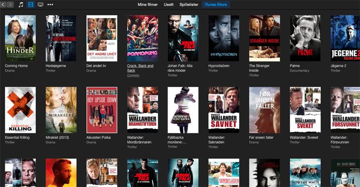 Nordiske filmer på iTunes
