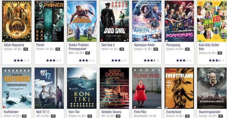 Norske filmer tilgjengelig hos TVOD-tjenesten Plejmo