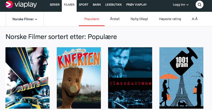 De norske filmene hos Viaplay