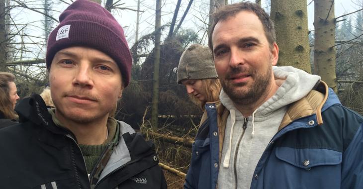 Regissører og manusforfattere av «Vikingane», Jon Iver Helgaker og Jonas Torgersen.