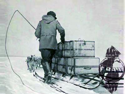 Fotografi fra den tredje Fram-ferden, 1910-12 (fra Fram-museets billedarkiv).