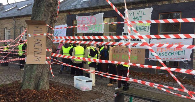 Studentene okkuperer Den danske filmskolen